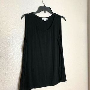 Liz Claiborne Womens Sz XL Black Tank Top Shirt Sl